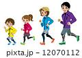 ジョギング ランニング ベクターのイラスト 12070112