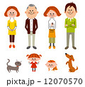 3世代家族 6人と2匹 12070570