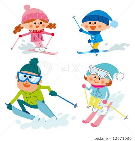 家族 スキー のイラスト素材 12071030 Pixta