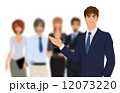 Businessman with team 12073220