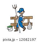 農業 農耕 農夫のイラスト 12082197