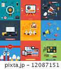 セット 組み合わせ アイコンのイラスト 12087151