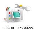調整する 立体 3Dのイラスト 12090099