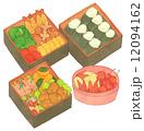 弁当 お弁当 おにぎりのイラスト 12094162
