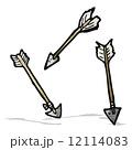 矢 矢印 マンガのイラスト 12114083