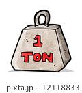 トン 重量 重さのイラスト 12118833