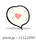cartoon love heart speech bubble 12122095