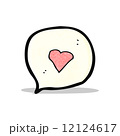 cartoon love heart speech bubble 12124617