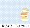 洋菓子 マカロン 食べ物のイラスト 12129291