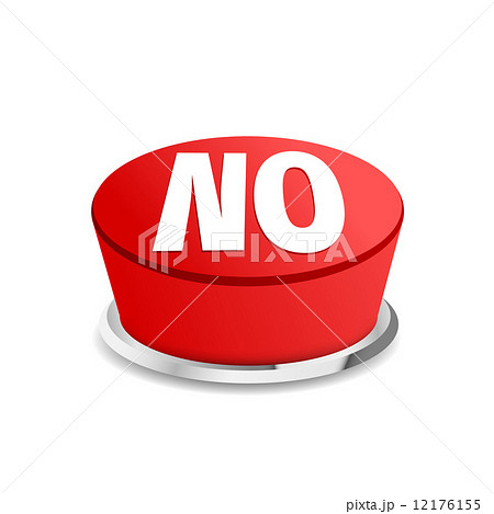 time to say no button sign templateのイラスト素材 12176155 pixta