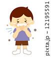 子供咳をする 12195591