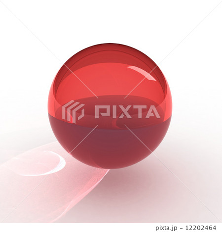 3d render of red ball 12202464