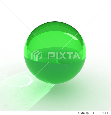 3d render of green ball 12202641