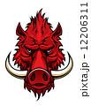 Red boar head mascot 12206311