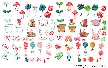 花・植物・動物・小物アイコン