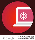 vector illustration laptop with the target on the screen on a re 12228785