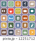 Travel flat icons on violet background 12251712