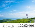 高原の道と青空 12262499
