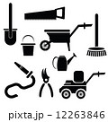garden tools silhouettes 12263846