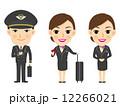 ベクター 客室乗務員 フライトアテンダントのイラスト 12266021