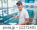 コーチ プール 泳ぐの写真 12272491