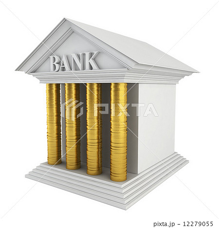Bank model. Stack of coins instead of columnsのイラスト素材 [12279055] - PIXTA