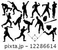 人物シルエット集 part10 野球 ピッチャー  12286614