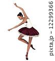バレリーナ 舞踊 踊りのイラスト 12299366