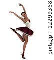 バレリーナ 舞踊 踊りのイラスト 12299368