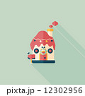 Gingerbread house flat icon with long shadow,eps10 12302956