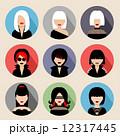 女性 アイコン イコンのイラスト 12317445
