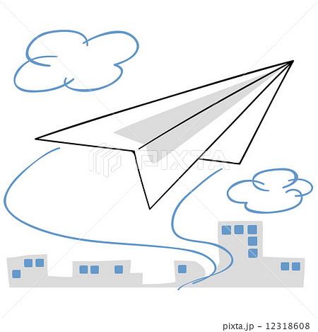 飛行機 折り紙 飛ぶ飛行機 折り紙 : pixta.jp
