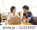 学生 カフェ カップルの写真 12320407