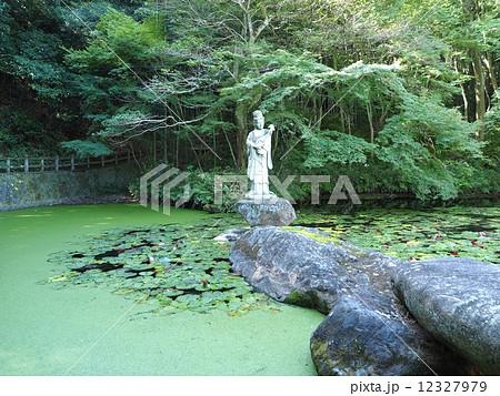 福山明王院の弁財天石像 12327979
