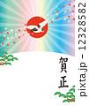 年賀はがき ハガキテンプレート 賀正のイラスト 12328582