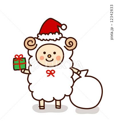 手書き羊サンタクロースのイラスト素材 12342633 Pixta