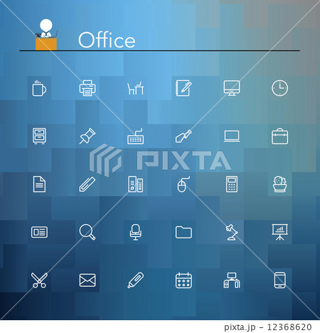 Office Line Icons 12368620