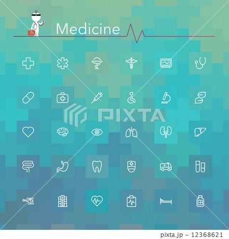 Medicine Line Icons 12368621