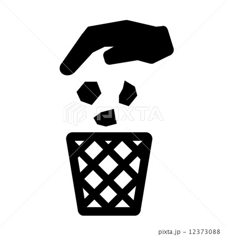 recycle bin trash can icon symbol vectorのイラスト素材 12373088