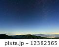 南アルプス・北岳の肩から見る北の夜空と甲斐駒ヶ岳・八ヶ岳 12382365