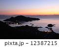 朝焼けの「国指定名勝」鞆の浦全景と瀬戸の多島美/瀬戸内海国立公園 12387215
