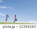 男女 ジョギング ランニングの写真 12394263