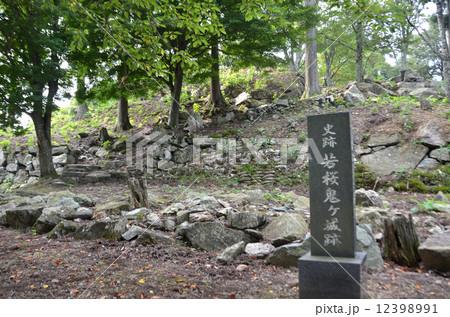 若桜鬼ヶ城 本丸石垣 12398991