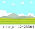 田園風景 ベクター 田のイラスト 12423304
