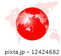 世界地図 日の丸 日本のイラスト 12424682