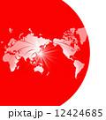 国旗 世界地図 日の丸のイラスト 12424685