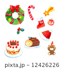 クリスマスリース 靴下 クリスマスのイラスト 12426226