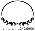 フレーム イラスト 花のイラスト 12426950