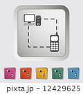 Phone sync single icon. 12429625