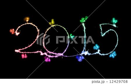 Happy New Year - 2015 made a sparklerの写真素材 [12429708] - PIXTA